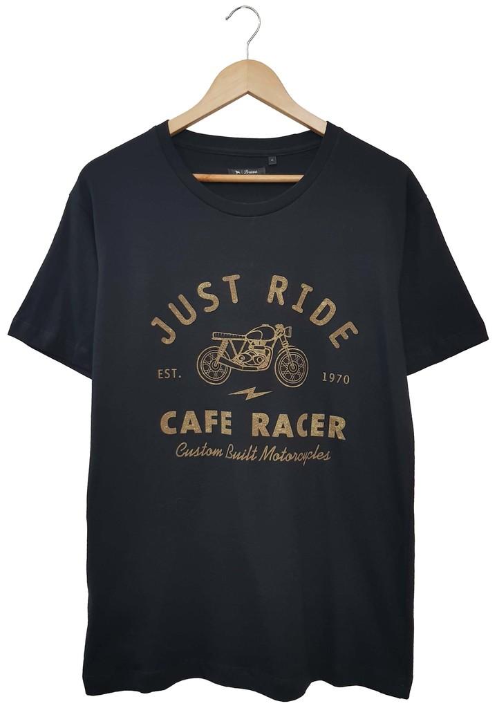 28313 REMERA MANGA CORTA ESTAMPADA CAFE RACER | BRAVO JEANS