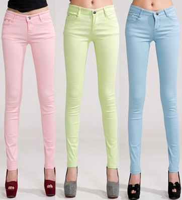 09097 PANTALON COLOR DAMA PROMO