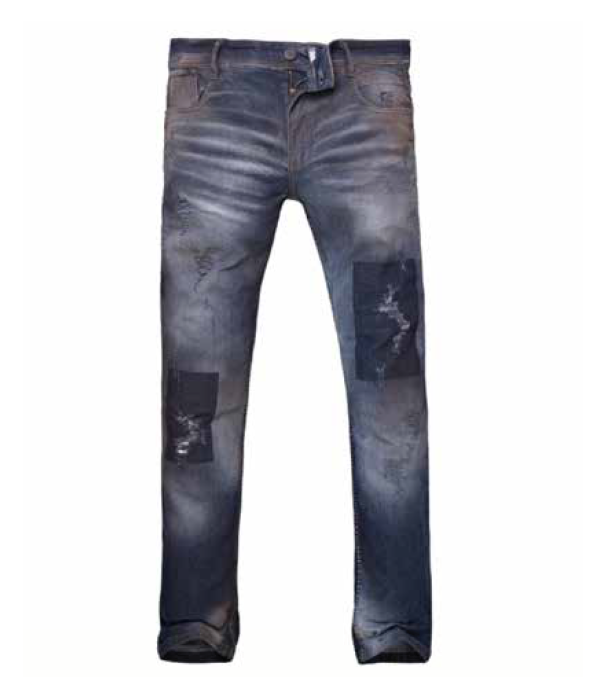 8019084 PANTALON JEAN ANBASS PATCH BLUE | RAIDERS