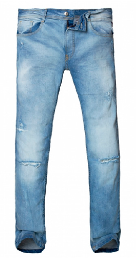 8019089 PANTALON JEAN ANBASS BROKEN LIGHT BLUE | RAIDERS