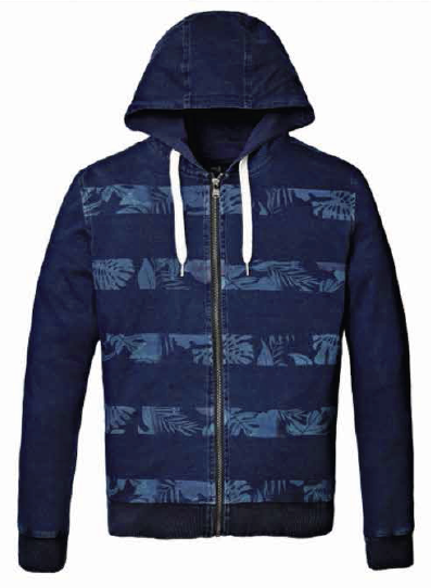 25012 CAMPERA CANGURO INDIGO | RAIDERS
