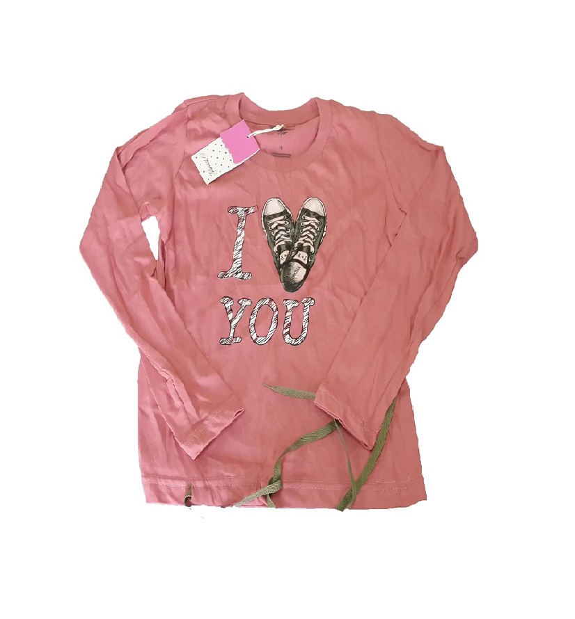 H10202 REMERA I LOVE YOU TALLE 14