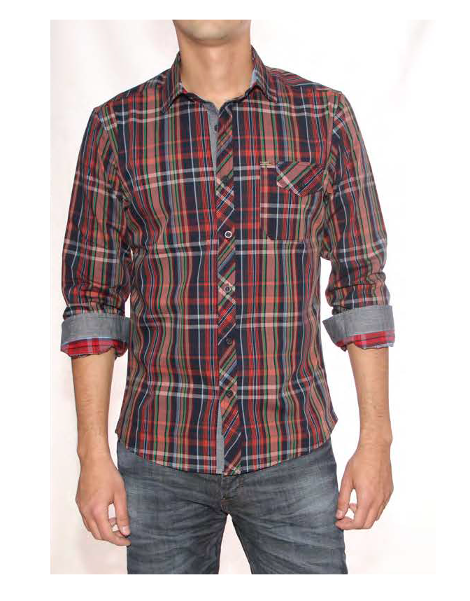 I15402 CAMISA MANGA LARGA ESCOCES | PANTHER