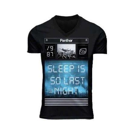 I14371 REMERA MANGA CORTA SLEEP NEGRO TALLE S
